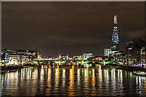 TQ3280 : Down-river from the Millennium Bridge, London, SE1 by Christine Matthews