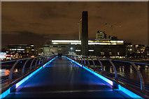 TQ3280 : Tate Modern from the Millennium Bridge, London, SE1 by Christine Matthews