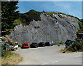 SN1300 : Battery Road cliff face, Tenby by Jaggery