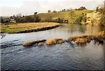 SE0063 : River Wharfe at Low Mill by Derek Harper