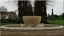 TR1457 : Fountain in Dane John Gardens, Canterbury by Peter Trimming