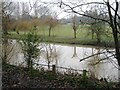 SP2965 : River Avon by Emscote Gardens, Warwick 2014, January 24, 16:20 by Robin Stott