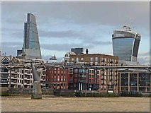 """TQ3280 : The Millennium Bridge, the """"Cheese Grater"""" and the """"Walkie Talkie"""" by Oliver Dixon"""