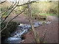 SX9374 : Ford and footbridge on Buddle Brook, Coombe Valley Local Nature Park, Teignmouth by Robin Stott