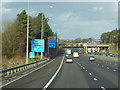 SK4839 : M1 northbound towards junction 26 by Ian S