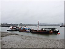 TQ7568 : Boats on the River Medway, Chatham by Chris Whippet