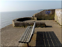 ST1166 : Bench with a sea view near Nell's Point, Barry Island by Jaggery