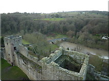 SO5074 : River Teme and Dinham Bridge from Great Tower of Ludlow Castle by Maurice D Budden