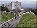 SD9204 : Metrolink Into Oldham by David Dixon