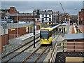 SD9204 : King Street Metrolink Station, Oldham by David Dixon