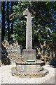 SP2704 : Alvescot War Memorial Cross (1), Main Road, Alvescot, Oxon by P L Chadwick