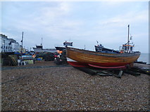TR3752 : Boats on the beach at Deal by Marathon