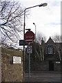 NT2571 : Modified road sign at Grange Loan by M J Richardson