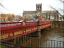NS4863 : Abbey Bridge and Paisley Abbey by Thomas Nugent