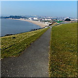 ST1166 : Path from Pioden Môr to the edge of The Promenade in Barry Island by Jaggery