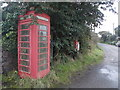 SW5934 : Fraddam: red telephone box by Chris Downer