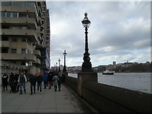 TQ3180 : View along the South Bank towards Westminster by Robert Lamb