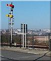 ST1166 : Semaphore signal, Barry Island by Jaggery