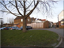 TQ1666 : The rear of shops on Fleece Road from Rectory Lane by David Howard