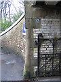 SD8557 : Stylish stonework at Hellifield Station by John S Turner