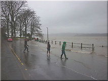 SD4578 : Here comes the tide, Arnside Promenade by Karl and Ali