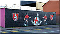 J3477 : Crusaders mural, Belfast (1) by Albert Bridge