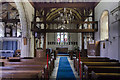 TQ6452 : Interior, St Dunstan's church, West Peckham by Julian P Guffogg