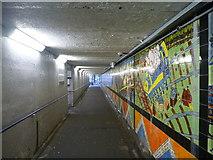 NS5567 : Glasgow Townscape : Underpass Under Railway At Hyndland Station by Richard West