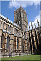SK9771 : Tower of Lincoln Cathedral by Philip Halling