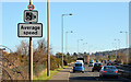 J3979 : Speed camera sign, Holywood bypass by Albert Bridge