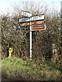 TM0738 : Roadsign on Brook Lane by Adrian Cable