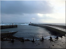 SC2667 : Outer harbour at Castletown 8 February 2014 by Richard Hoare