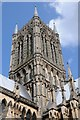 SK9771 : The tower of Lincoln Cathedral by Philip Halling