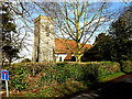 TM0738 : St.John's Church, Great Wenham by Adrian Cable