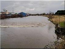 SD7909 : River Irwell at Warth by David Dixon