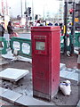 TQ2378 : Hammersmith: postbox № W6 17, Hammersmith Broadway by Chris Downer