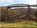 SS6695 : Railway bridge over the River Tawe, Landore, Swansea by Jaggery