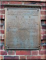 SO8456 : Gheluvelt Park - plaque on main gate, Barbourne Road, Worcester by P L Chadwick