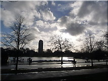 TQ2780 : London: across the Serpentine by Chris Downer