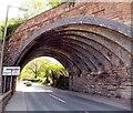 SO7038 : Skewed bridge detail, Hereford Road, Ledbury by Jaggery