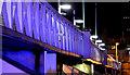 J3474 : The Lagan Weir footbridge, Belfast (7) (night view) by Albert Bridge
