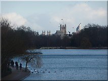 TQ2780 : London: The Serpentine and the Houses of Parliament by Chris Downer