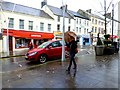 H4572 : Wet and windy, High Street, Omagh by Kenneth  Allen