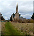 SO5719 : Octagonal spire, Goodrich by Jaggery