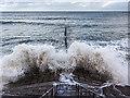 NJ9506 : High tide at Aberdeen by William Starkey