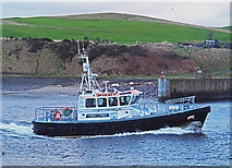 NJ9505 : Pilot vessel at Aberdeen Harbour by William Starkey