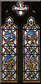 TF8044 : Parable of the Sower, Stained glass window, St Mary's church by J.Hannan-Briggs
