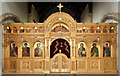 TQ3493 : St Martin (St Demetrios), Town Road, Edmonton - Iconostasis by John Salmon