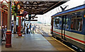 TL1929 : Hitchin station: scene at the north end 1992 by Ben Brooksbank