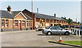 TL1929 : Hitchin station, exterior 1992 by Ben Brooksbank